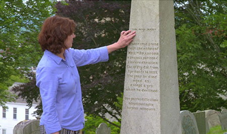 Donna Curtin and Bradford obelisk